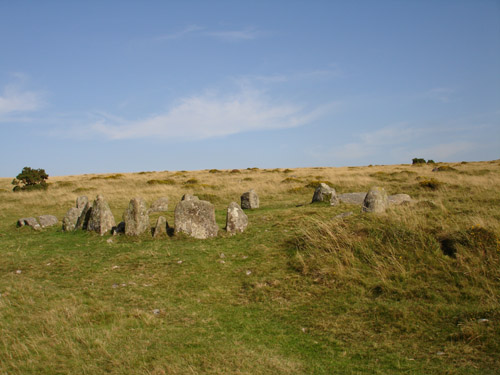 Nine Maidens at Belstone Tor
