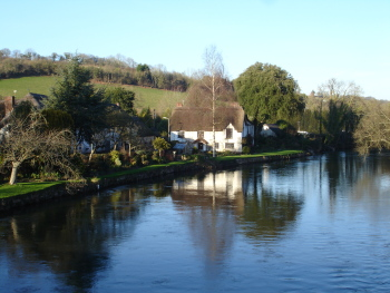 view upstream from Bickleigh bridge