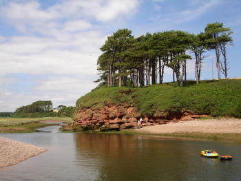 the River Otter at Budleigh Salterton
