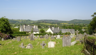 view across the cemetry behind St Michael's Church