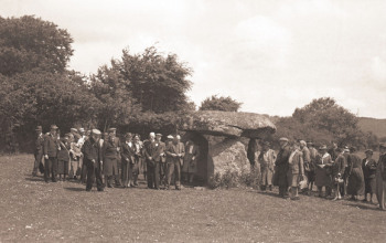 meeting of the Devonshire Association at Spinster's Rock, 1946. © Dartmoor Archive