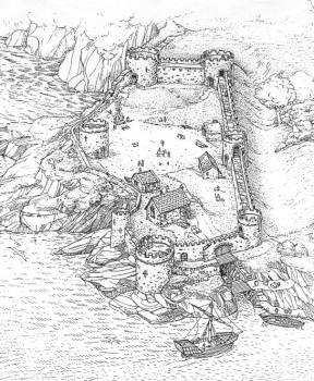Artist's impression of Hawley's fort