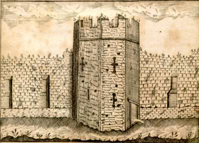 A tower in Athelstan's defensive wall around Exeter
