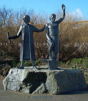 Statue of Michael Joseph and Thomas Flamank in St Keverne