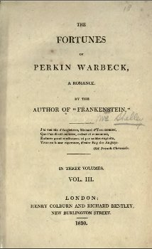 1830 edition of Shelley's Fortunes of Perkin Warbeck