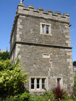 Side view of Fitzford gatehouse in 2008