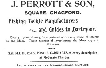 Advertisement for the Perrott's Dartmoor business