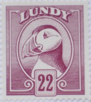A 2007 Lundy puffin stamp, 1929