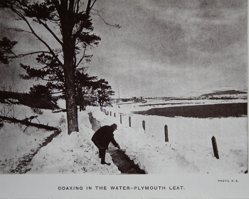clearing the leat after the blizzard of March 1891 (R Burnard)
