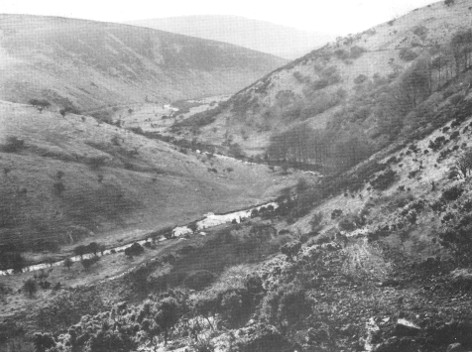 Meldon Gorge before reservoir