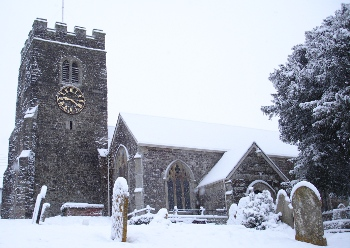 St Peter's Church in Zeal Monachorum, winter 2010