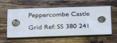 Peppercombe Castle plaque