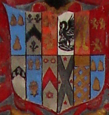The Stukeley shield showing 12 quarterings