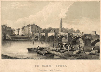 Old Totnes bridge, 1825